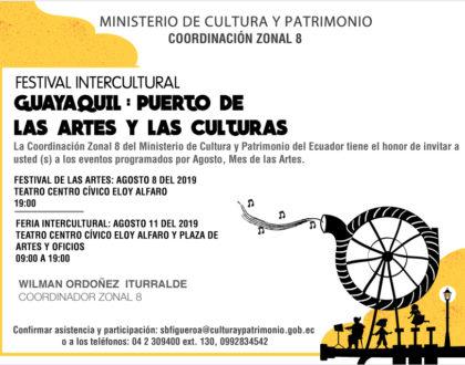"""Festival intercultural """"Guayaquil: Puerto de las Artes y las Culturas"""""""