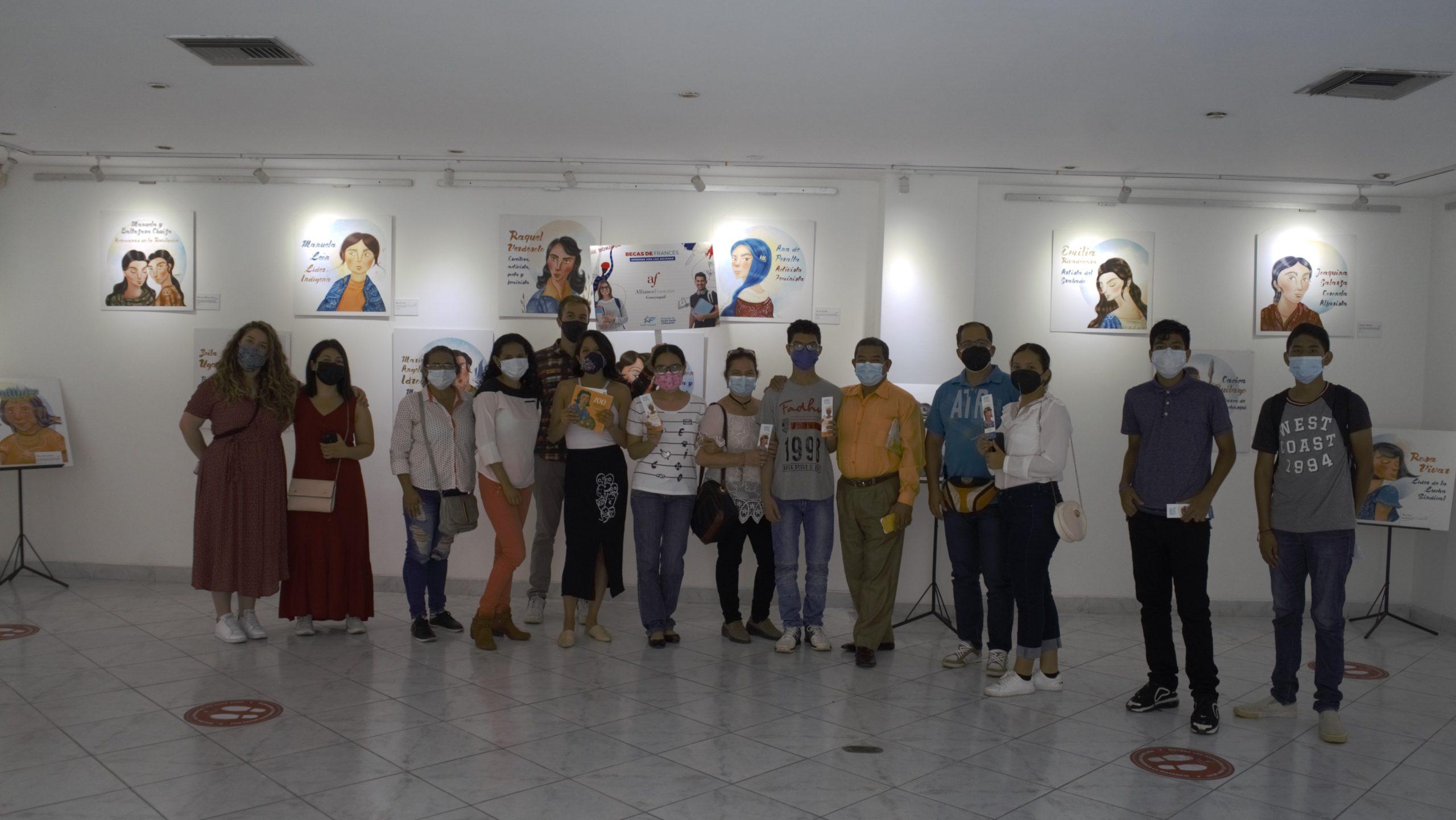 Inauguración de la exposición (100 mujeres de nuestra Historia ) y reanudación de las actividades culturales en la Alianza Francesa de Guayaquil